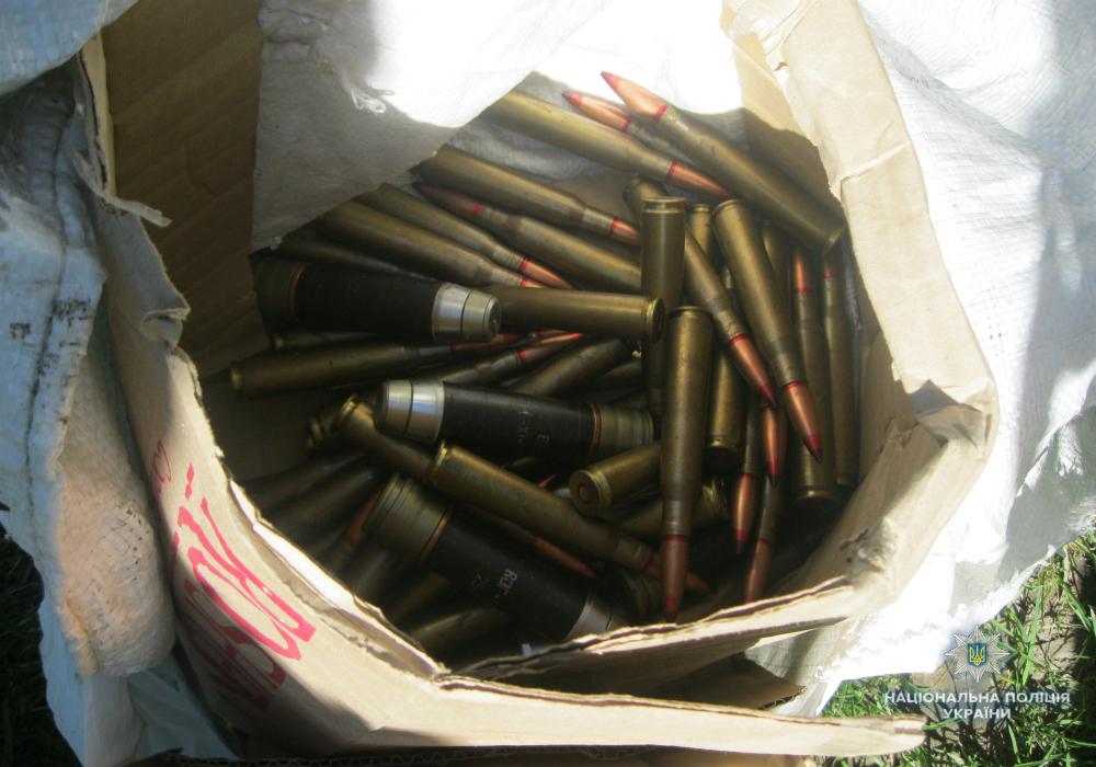 В Черкасской области обнаружили тайник с боеприпасами