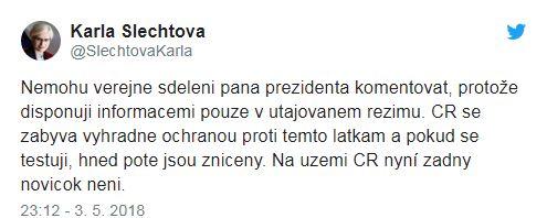 """Президент Чехии заявил, что его страна производила газ """"Новичок"""""""