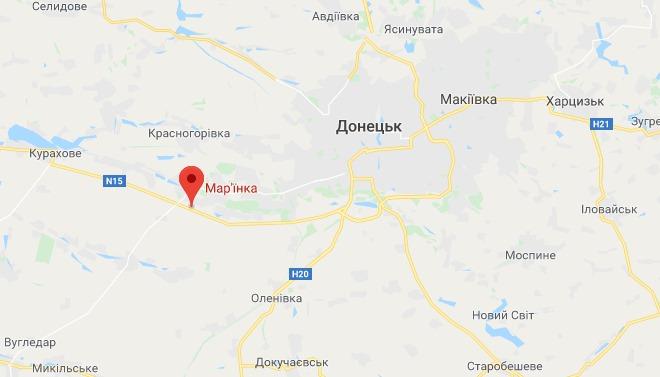 Проезд на Донецк через пункт пропуска в Марьинке временно закрыли