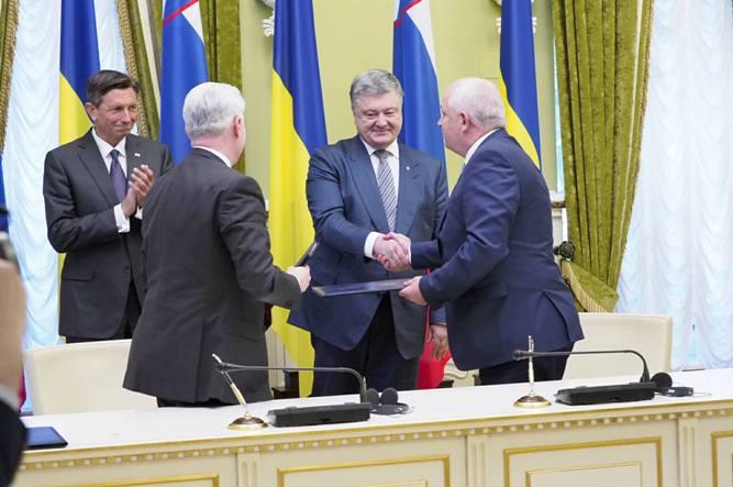 Порошенко встретился с президентом Словении: фото