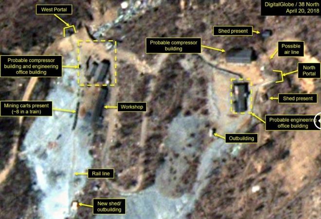Демонтаж ядерного полигона КНДР подтвердили спутниковыми фото
