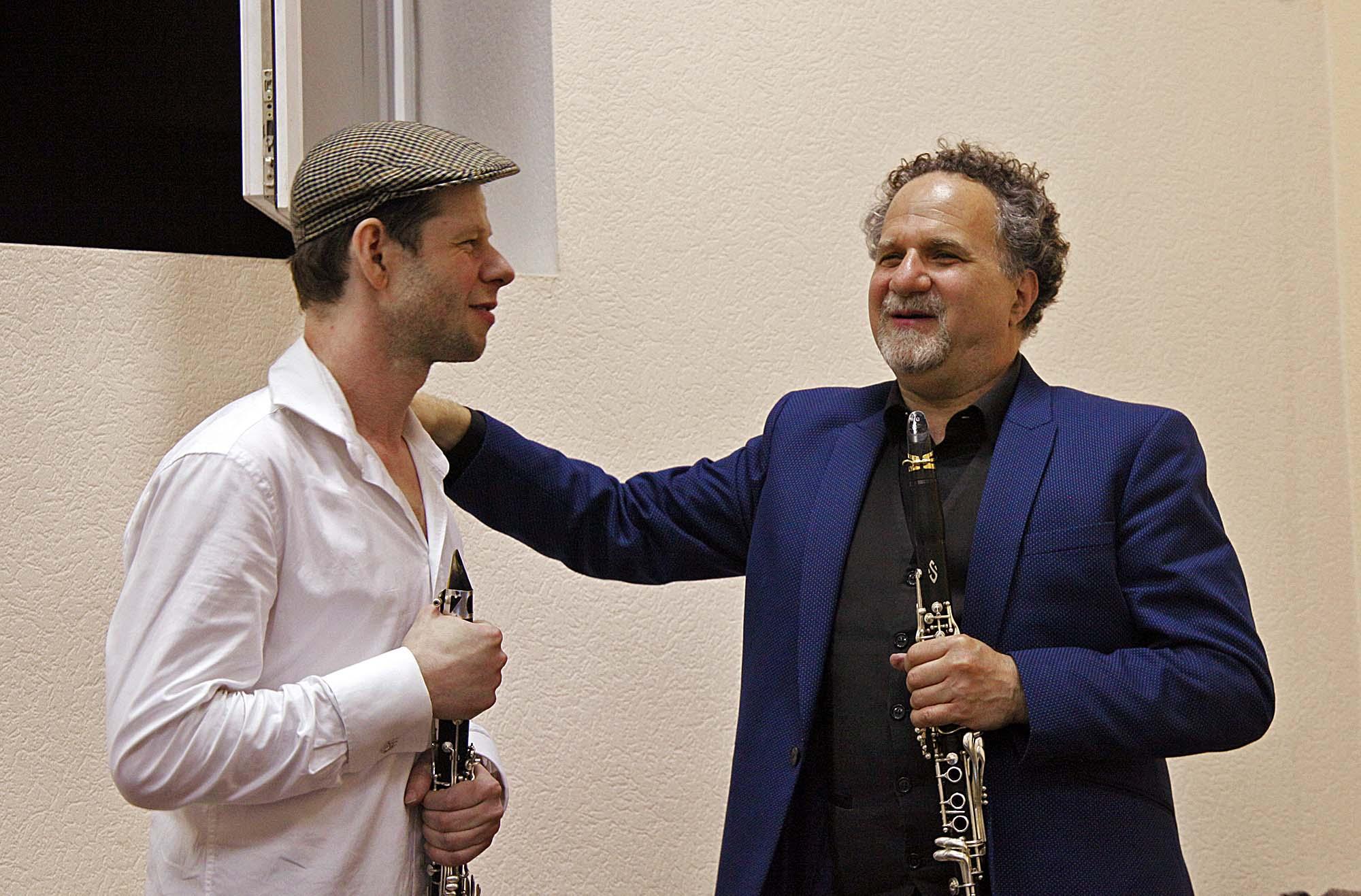 Митя Герасимов, засновник Kyiv Klezmer Fest, керівник гурту Pushkin! Klezmer Band, та David Krakauer