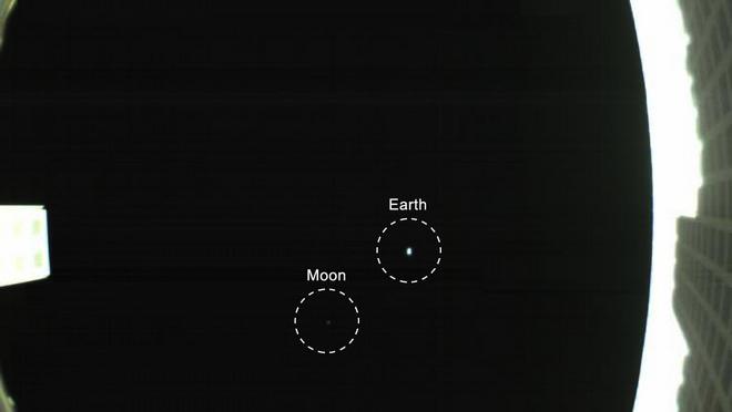 Как мы выглядим в космосе с 1 млн км: фото с марсианского кубсата