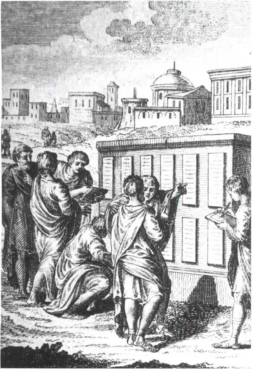 Римляне изучают вывешенные