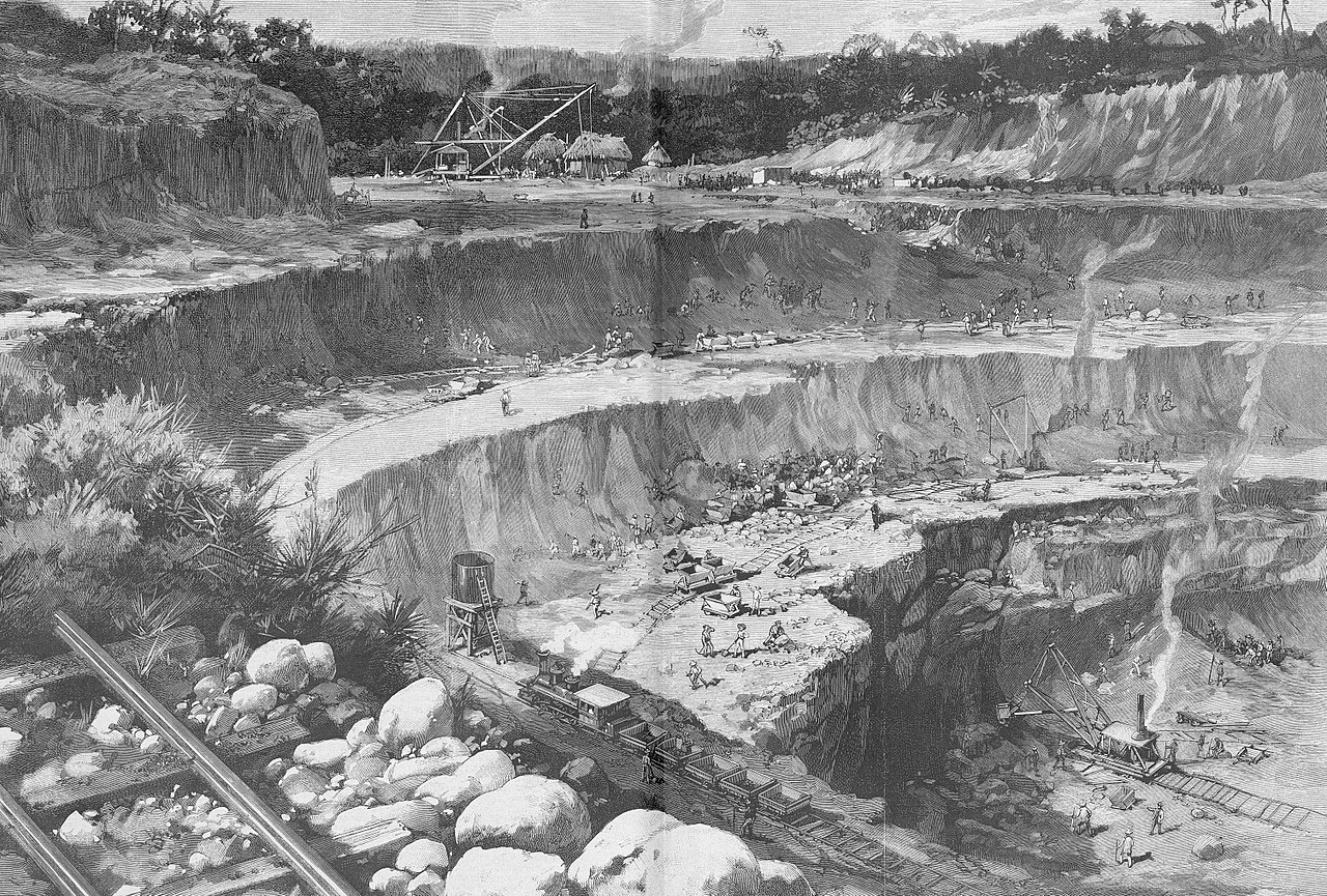 Строительство Панамского канала, 1885.