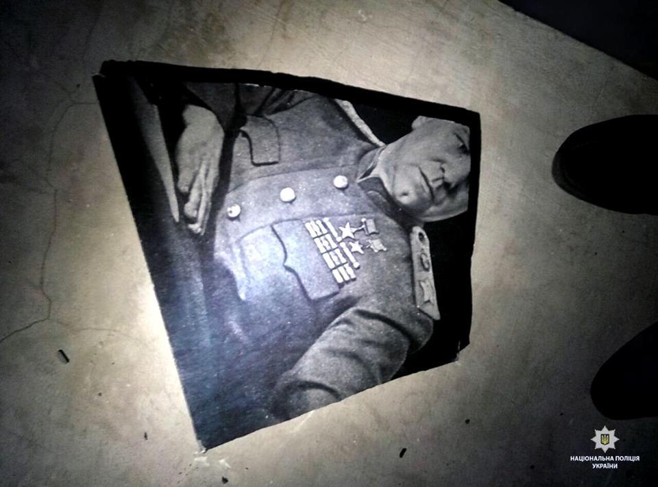 В Харькове разбили мемориальную доску маршалу Жукову: фото