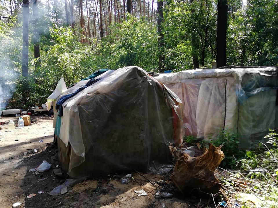 «Нацдружины» разгромили лагерь ромов вГолосеевском парке— АСН
