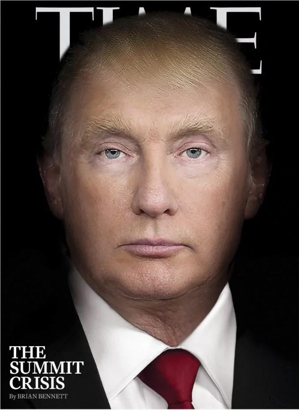 Time напечатал на обложке нового номера Путинотрампа: фото