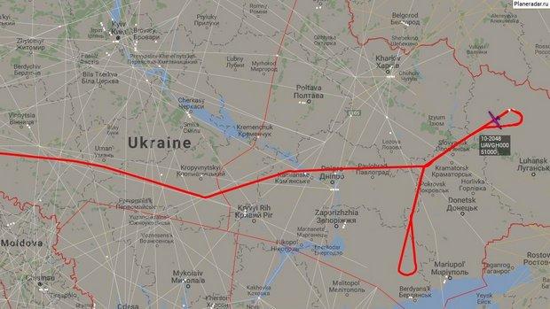 """""""Ястреб"""" из США с высоты 15 км разведал позиции в Донбассе: схема"""
