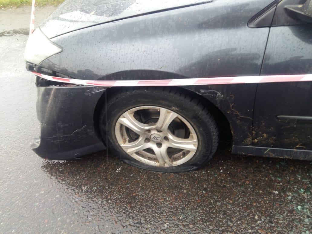 На границе с Польшей авто пыталось прорваться в Украину: фото