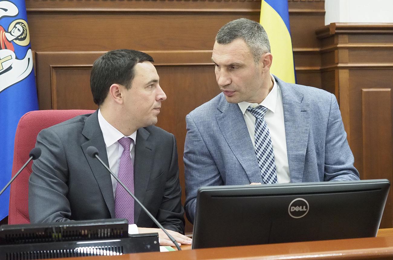 Володимир Прокопів та Віталій Кличко (фото – Андрій Гудзенко/LIGA.net)