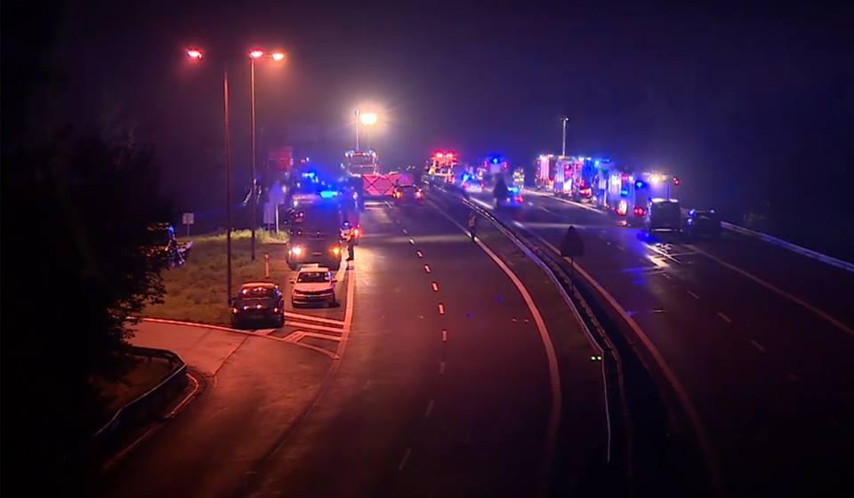 В Польше столкнулись 16 автомобилей: фото