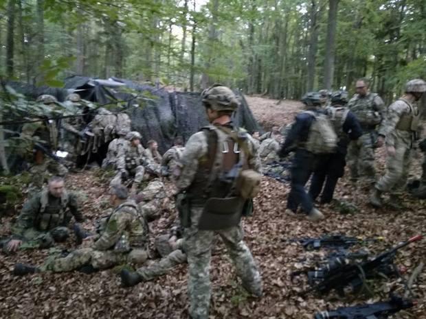 Бойцы ВСУ взяли штаб американских военных на Saber Junction: фото
