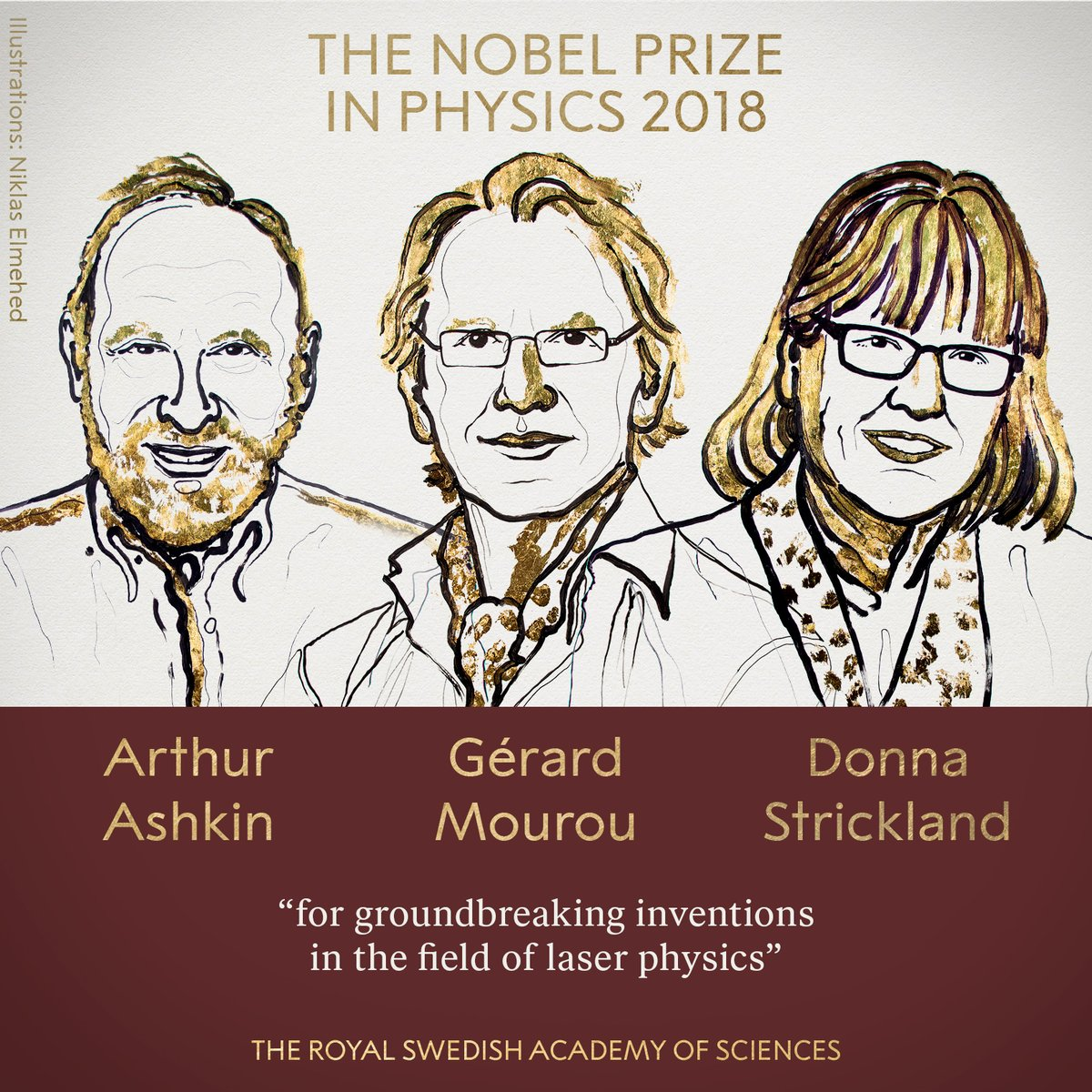 Нобелевскую премию по физике присудили за лазеры