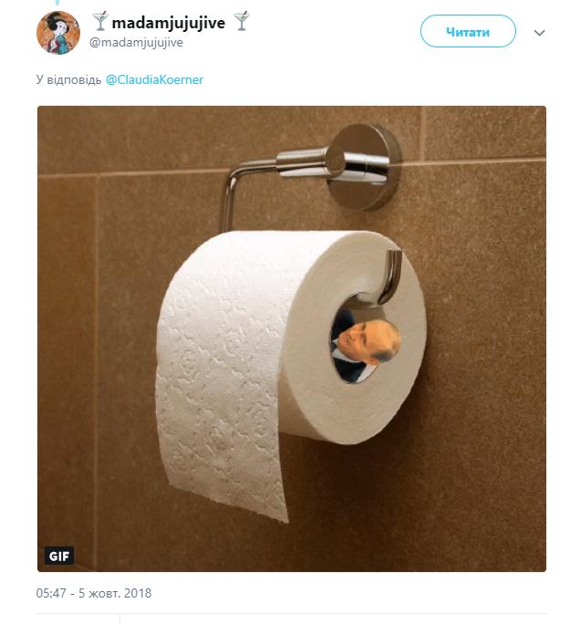 Трамп оконфузился: прилипла туалетная бумага - видео