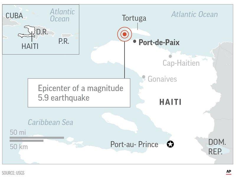 Землетрясение на Гаити: 14 человек погибли, сотни пострадали