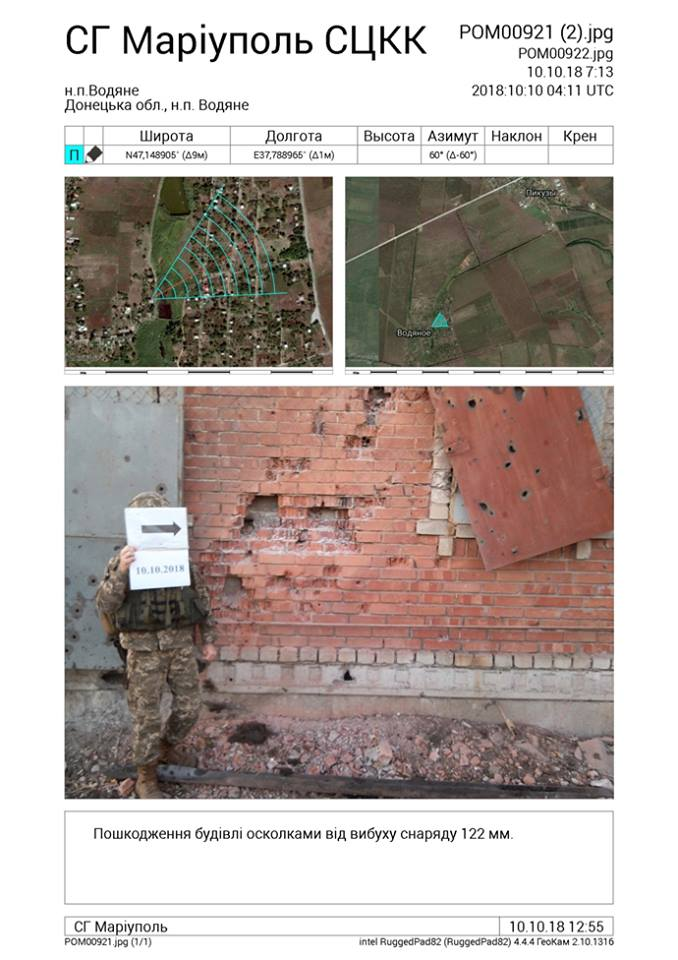 Показали последствия артобстрела боевиками Водяного: фото