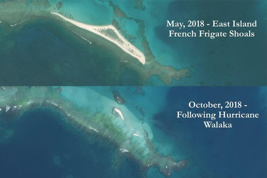 В Гавайях пропал остров - его смыло сильным ураганом: фото