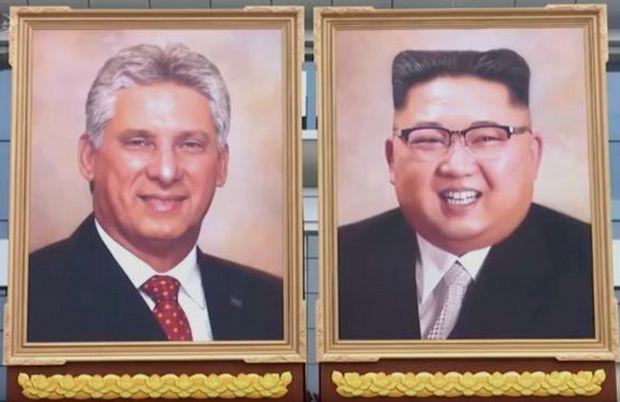 """В Северной Корее показали """"первый официальный портрет"""" Кима"""