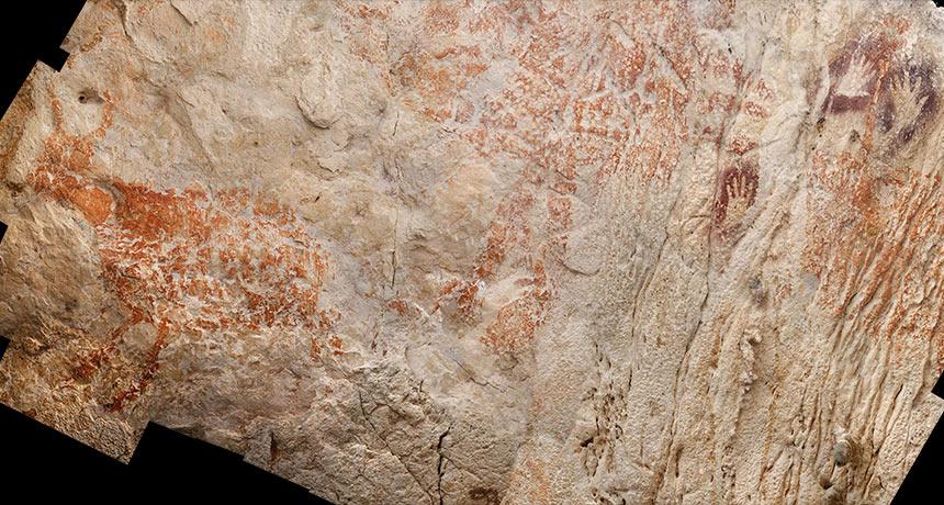 В Индонезии нашли наскальные рисунки возрастом 40 тыс лет: видео