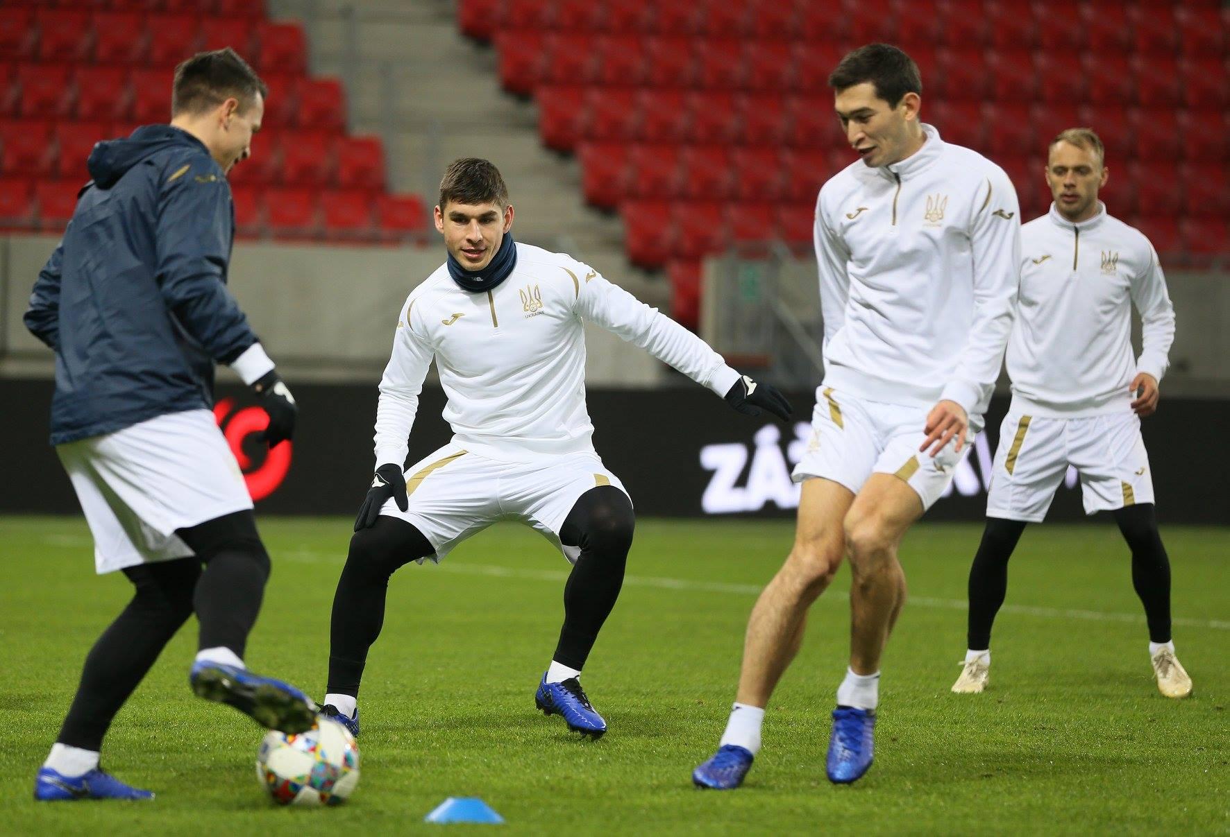 Как сборная Украины готовится к игре со словаками: фото