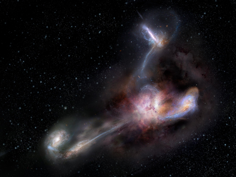 """Самая яркая галактика Вселенной оказалась """"каннибалом"""" - ученые"""