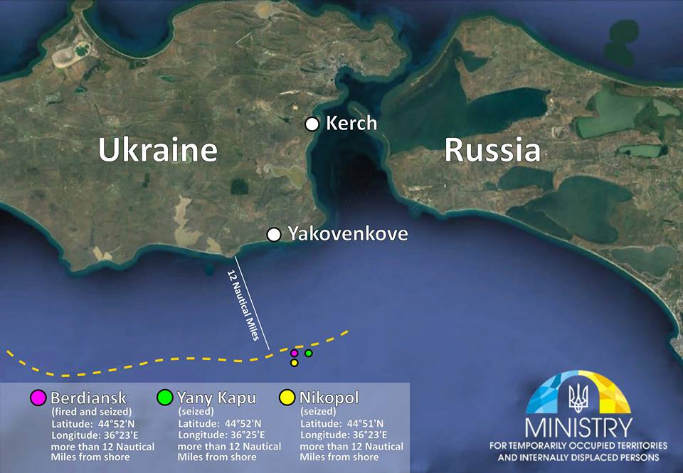 РФ напала на украинские корабли в международных водах: карта