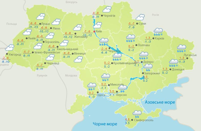 Синоптики предупреждают о метелях и морозах: погода, карта