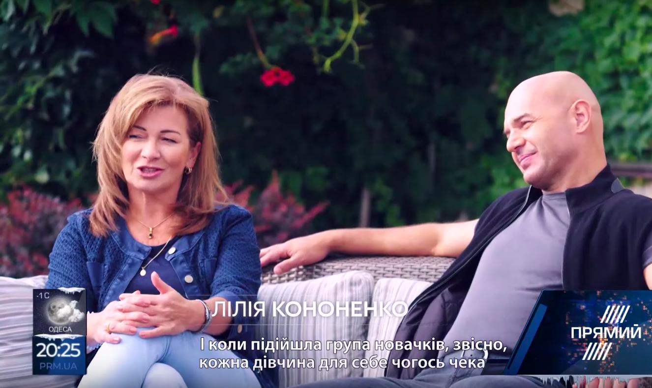 Игорь Кононенко с женой Лилией (скриншот фильма