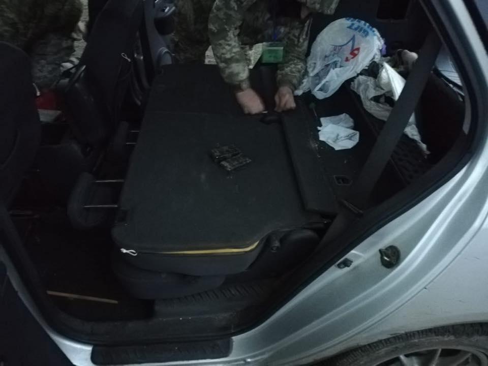 Из оккупированного Донбасса пытались ввезти взрывчатку: фото