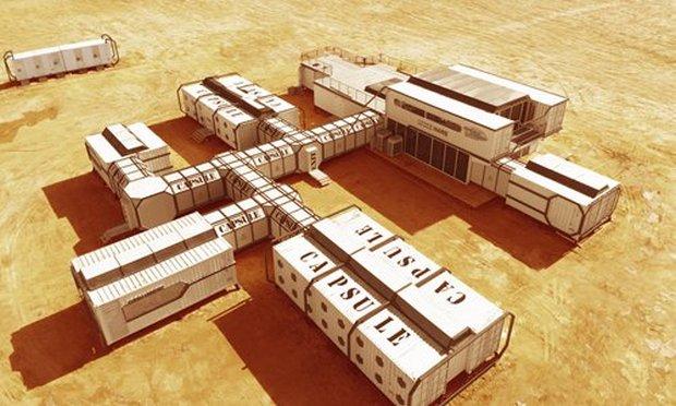 Китай создал в пустыне марсианскую базу: видео