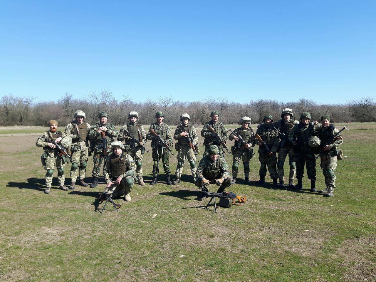Украинские морпехи тренировались с военными пяти стран: фото