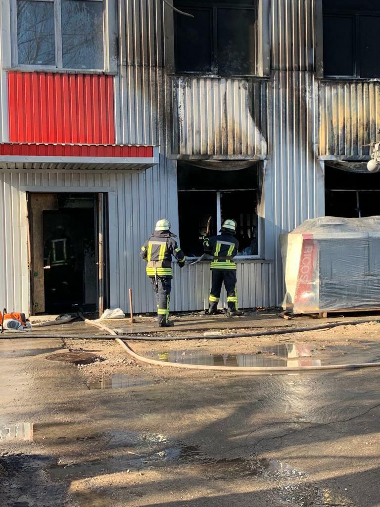 В Киеве горел бизнес-центр: фото