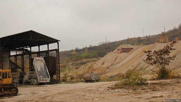 Золоторудное месторождение в Мужиево, фото: BBC/Николай Гожик