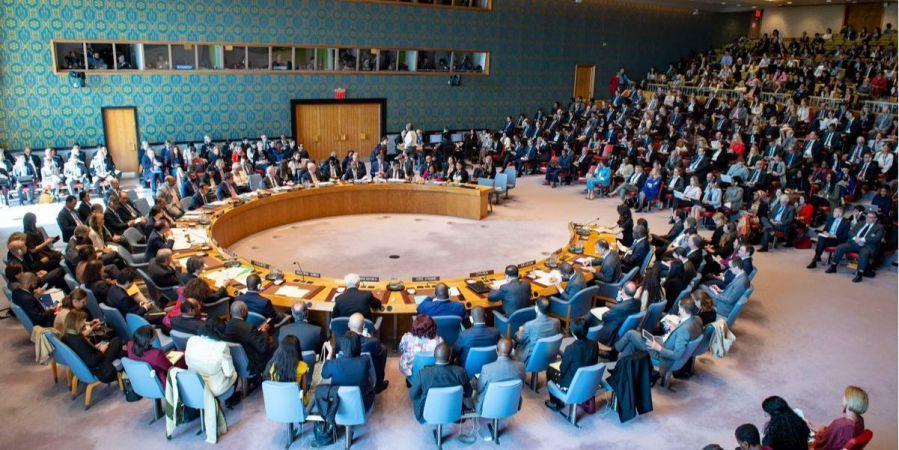 Экстренное заседание СБ ООН по вопросу выдачи паспортов РФ жителям оккупированного Донбасса. Фото:UKR Mission to UN / Twitter