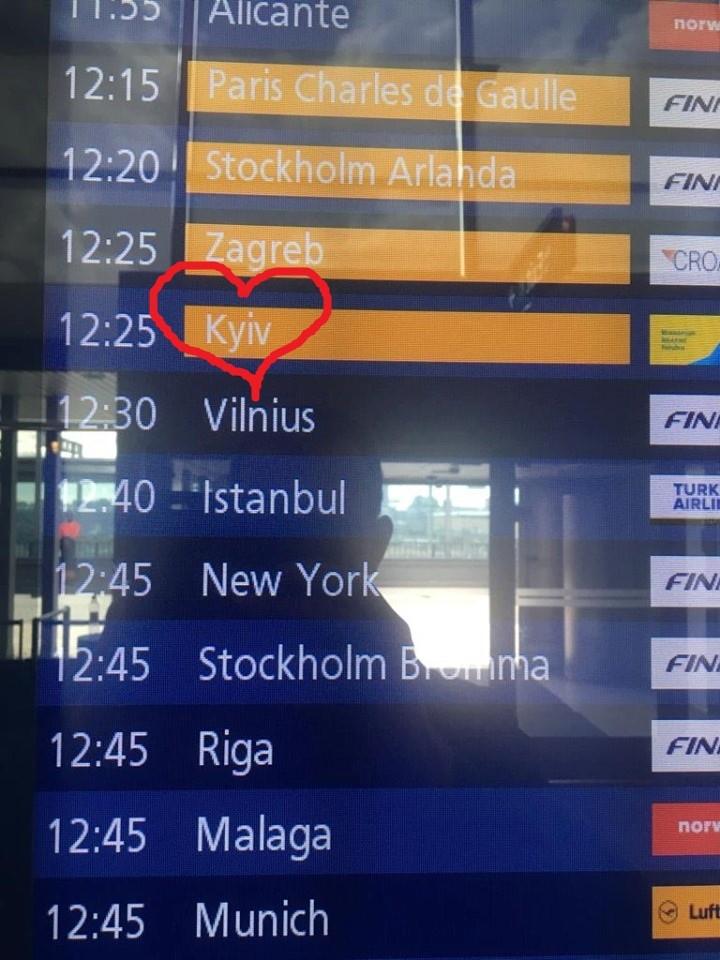 Аэропорт Хельсинки начал правильно писать название Киева