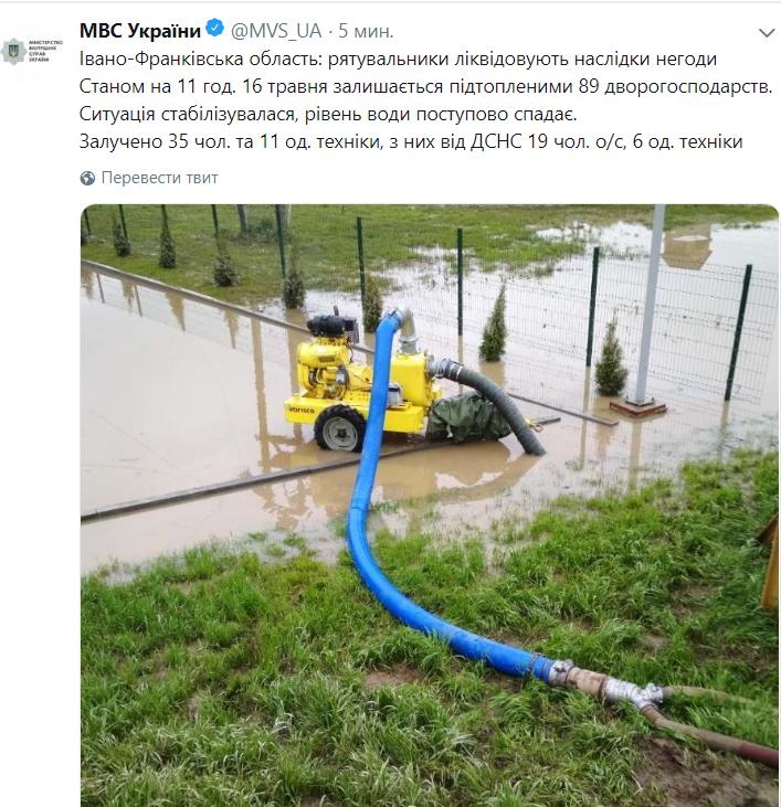 В Ивано-Франковской области подтоплены сотни домов: фото
