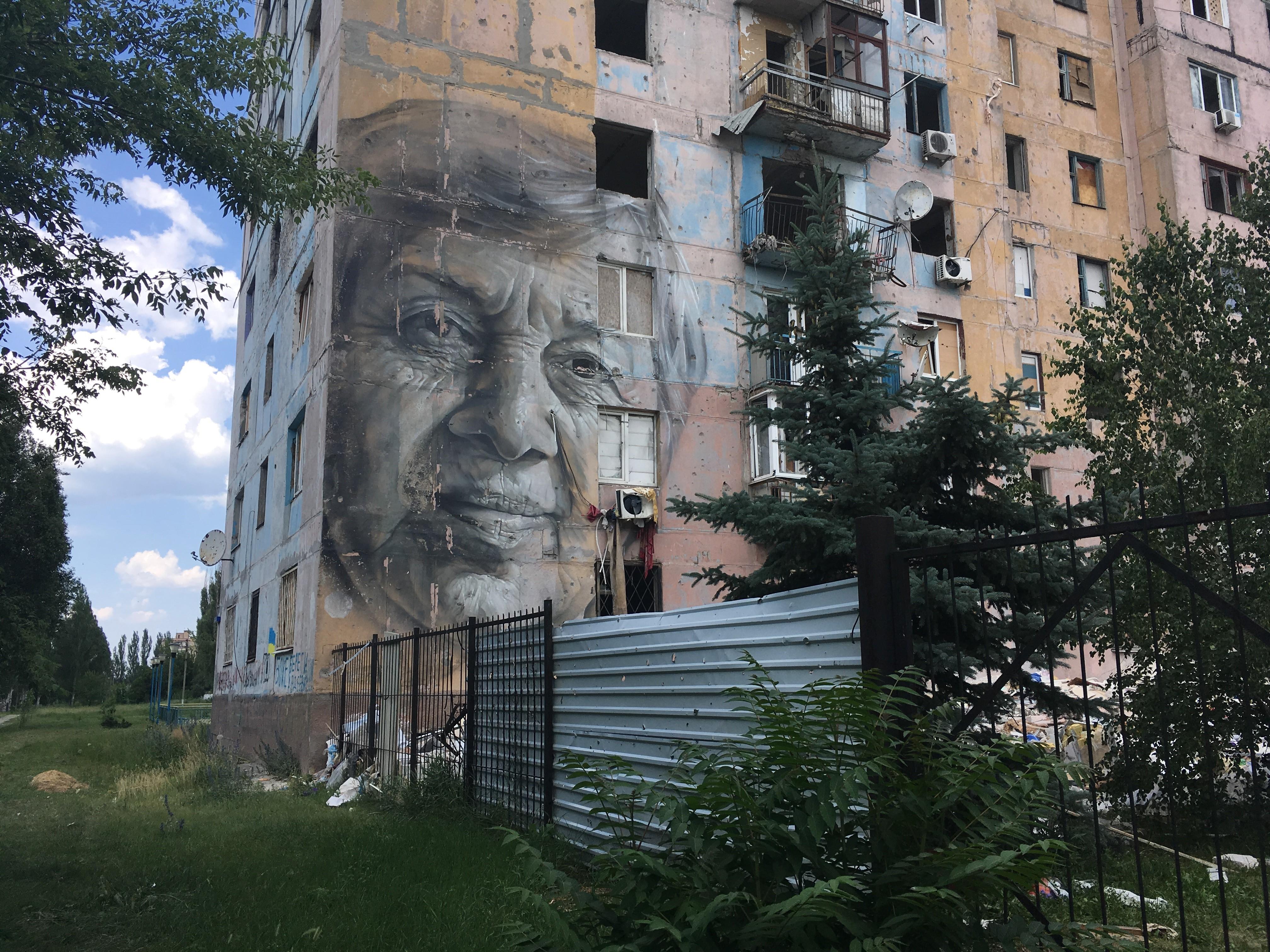 Мурал с портретом Марины Марченко в Авдеевке (Фото Мелинды Хэринг)