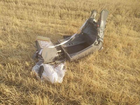 Что осталось от упавшего вчера самолета Воздушных сил: фото