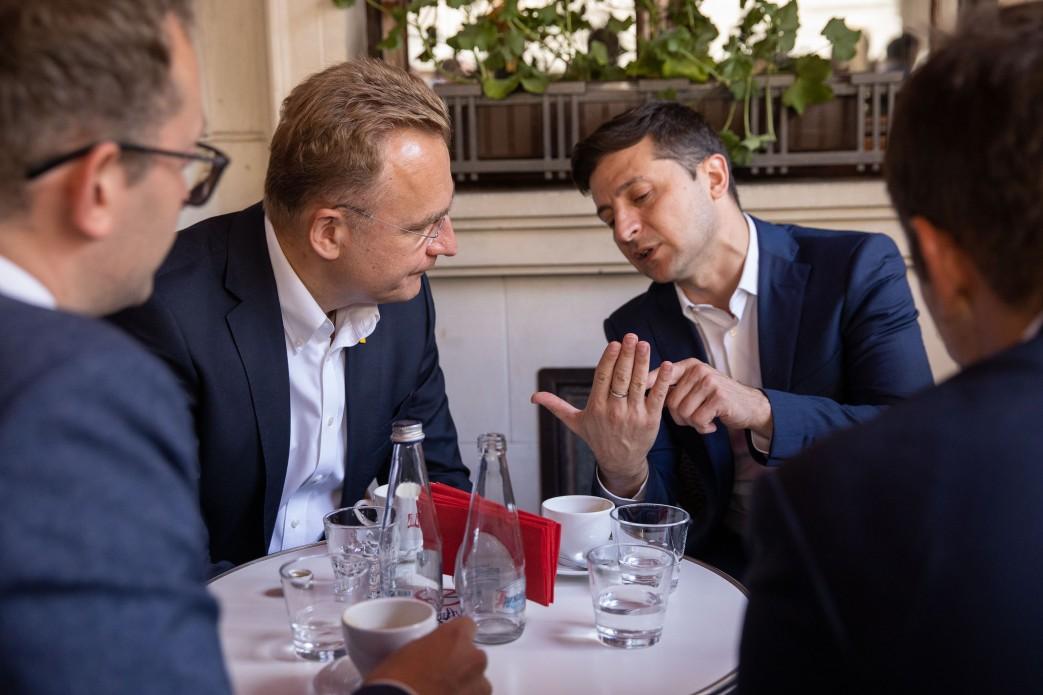 Андрей Садовый и Владимир Зеленский (фото - president.gov.ua)