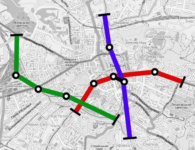 Схема: metro.lviv.ua