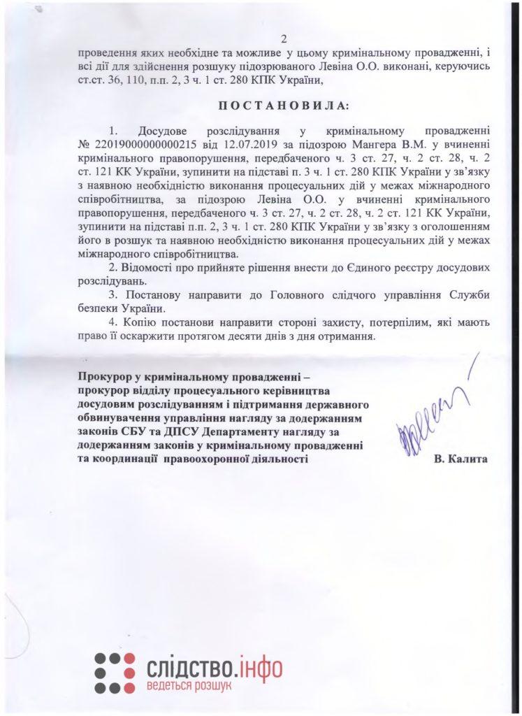 Дело Гандзюк. ГПУ остановила расследование против Мангера