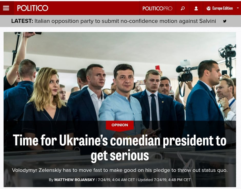 Фото: скриншот из материала Politico