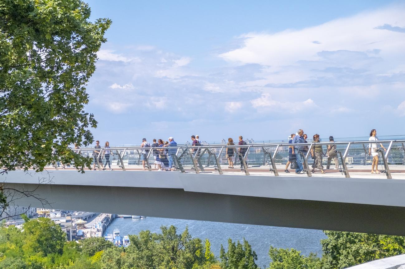 Пешеходный мост (фото - Андрей Гудзенко/LIGA.net)