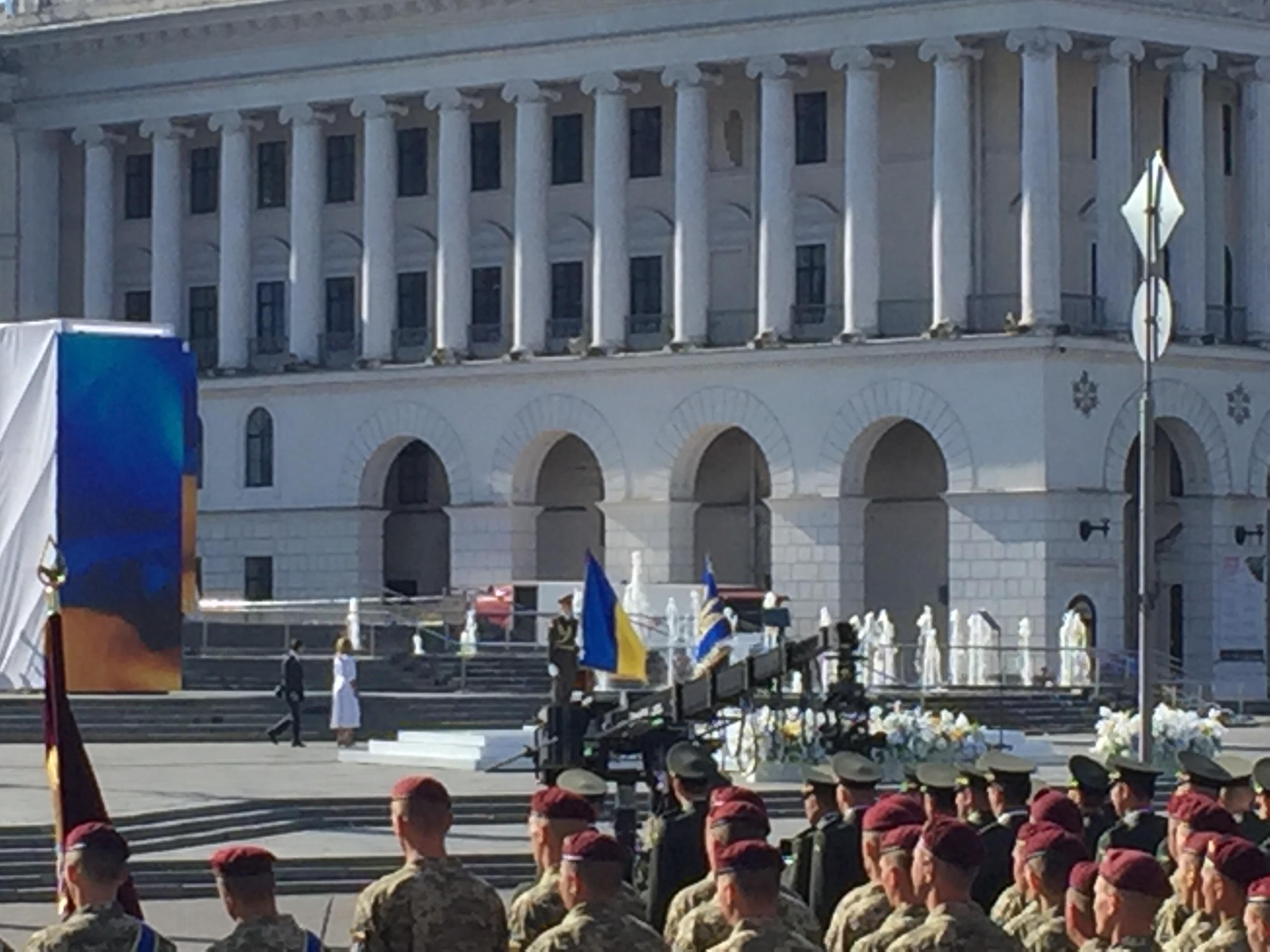 Владимир и Елена Зеленские на Майдане на Дне Независимости