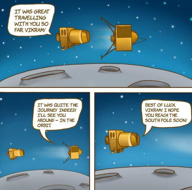 15 минут ужаса. Зонд Индии пытался сесть на Луне - видео