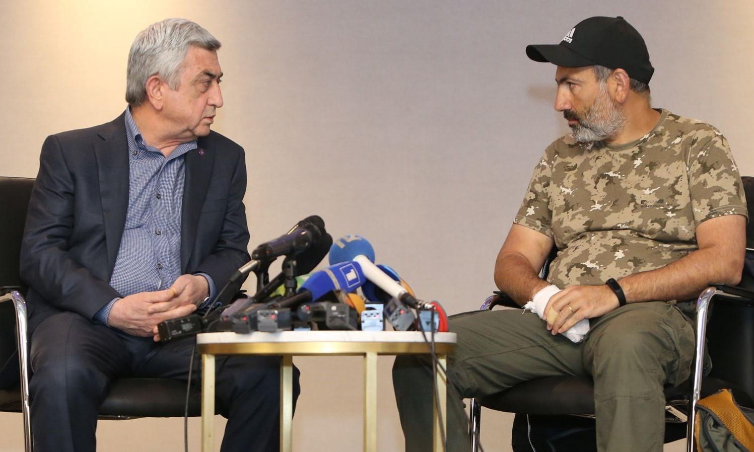 Встреча Сержа Саргисяна и Никола Пашиняна, фото: Радио свобода