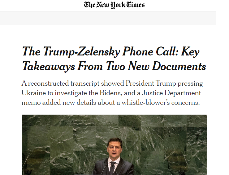 Скриншот сайта The New York Times