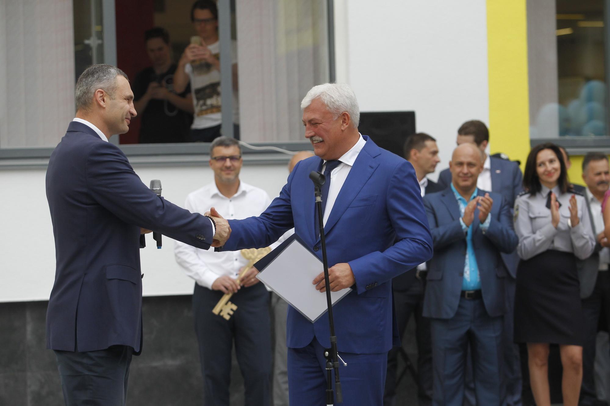 Віталій Кличко та В'ячеслав Непоп (фото – пресслужба Кличка)