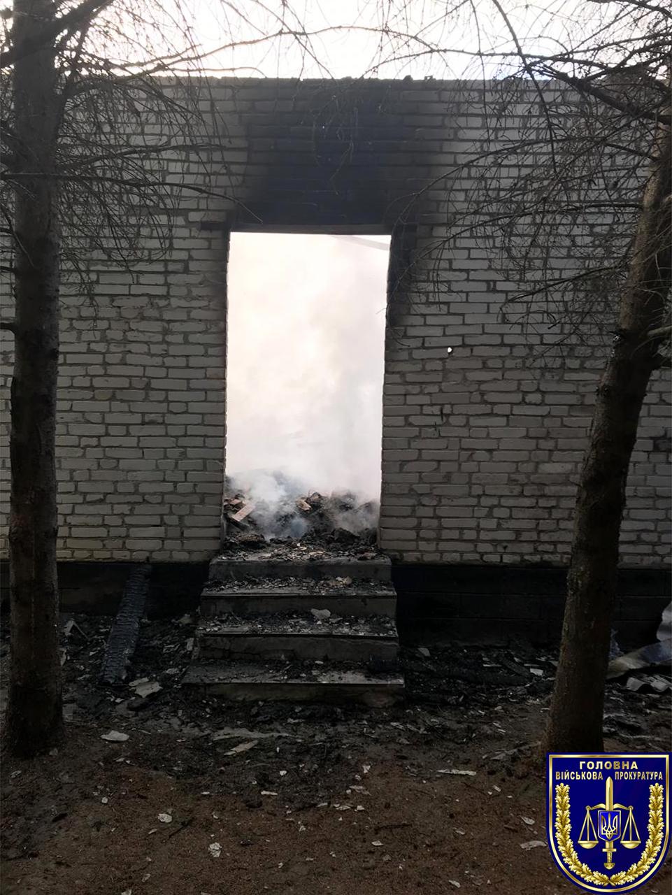 Прокуратура назвала вероятную причину пожара в воинской части